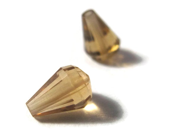 Two Matching Quartz Beads, Set of 2 Gemstones, High Quality Gemstone Drops, 8mm x 5mm, Jewelry Supplies (S-Bq5)