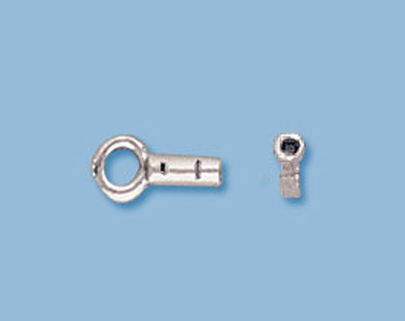 Chain Enders, .925 Sterling Silver Chain Crimp Ends, Set of 2 Crimps for Ending Beading Chain or Wire, Jewelry Supplies (1128s)