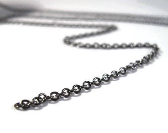 10 Feet of Thin Cable Chain, 2mm Gunmetal Cable Chain, Black Chain for Making Jewelry, Delicate Yet Sturdy (40099139)