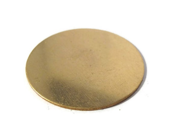 1 Gold Stamping Disc Charm, Brass, Round 45mm Blank Disc, Flat Shiny Charm for Making Jewelry, Jewelry Supplies (F-19)
