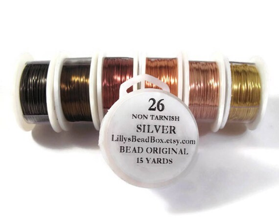 26 Gauge Wire for Making Jewelry, Non Tarnish Wire, Wire Wrapping Supplies, Thin Wire - You Pick the Color!