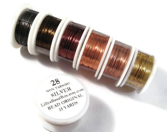 28 Gauge Wire for Making Jewelry, Round Non-Tarnish Wire, Wire Wrapping Supplies, Thin Craft Wire, You Pick the Color!