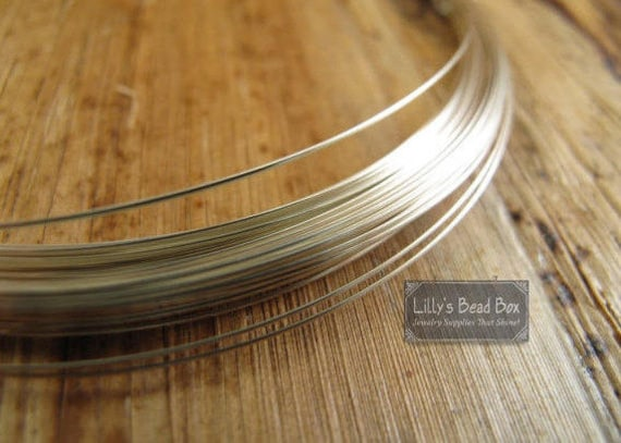 20 Gauge Wire, Sterling Silver FILLED Wire,  3 Feet of Round, Half Hard Wire for Wire Wrapping, Supplies