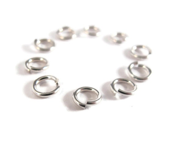 Hard Snap Variety Pack 6mm, 8mm and 10mm - 2 of each .925 Sterling Silver Jump Rings, Jewelry Findings, Strong, Small Rings (H-SJH2)