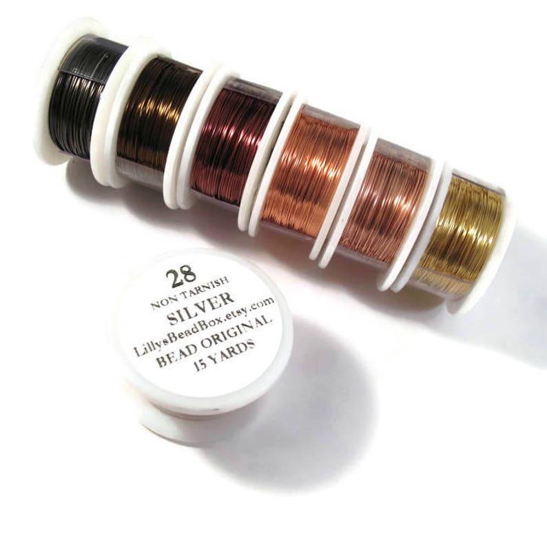 Choisissez Mince Vous FilWire La Pour Calibre Couleur FournituresArtisanat Fabrication BijouxTernissure 28 De Wrapping lc3FTKJu15