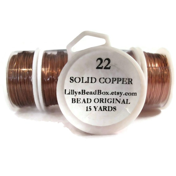 22 Gauge Bare Copper Wire, Genuine Copper, Round Wire for Making Jewelry, Wire Wrapping Supplies