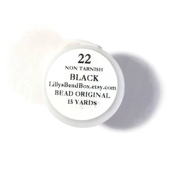 Black Plated Wire - 22 Gauge Wire for Making Jewelry, Non Tarnish Wire, Wire Wrapping Supplies, Thin Wire for Making Jewelry, 15 Yard Spool