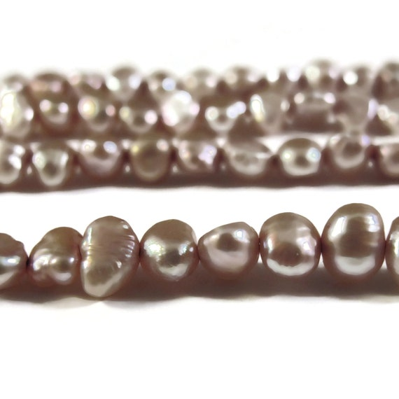 Champagne Freshwater Pearls, Delicate Light Gold Nugget Pearls, 3.5-4mm, 15 Inch Strand, Long Drilled, Over 46 Loose Pearls (P-N1)