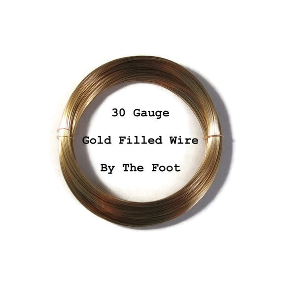 30 Gauge Wire, 14/20 Gold Filled Wire, Thin Wire By The Foot, Round, Half Hard Wire for Wire Wrapping Jewelry, Delicate Wire