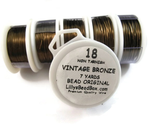 Vintage Bronze Plated Wire -18 Gauge Round Wire for Making Jewlery, Non Tarnish Wire, Wire Wrapping Supplies