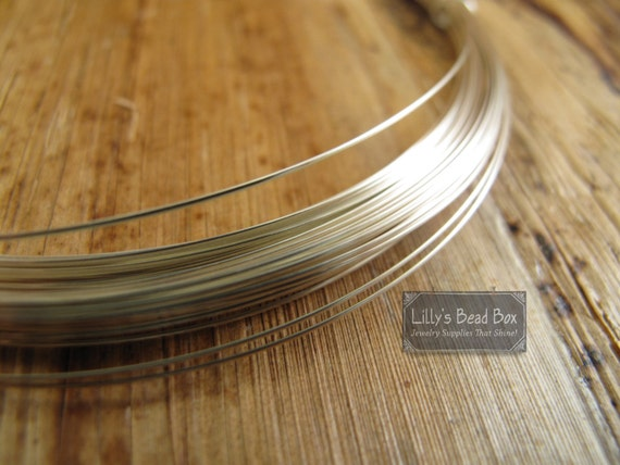 22 Gauge Wire, 10 Feet of .925 Sterling Silver Wire, Half Hard, Round Silver Wire for Wrapping Gemstones and Making Jewelry