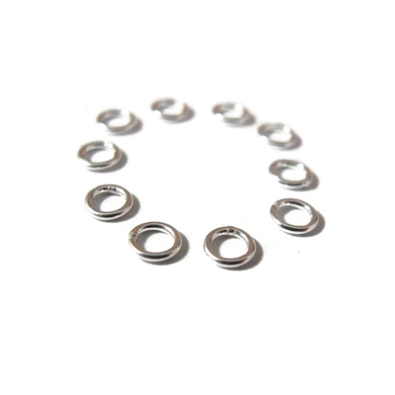 Ten Closed Rings, 10 Little Sterling Silver Jump Rings, 21 gauge, 4.2mm Closed Jump Rings For Making Jewelry (C 192es)