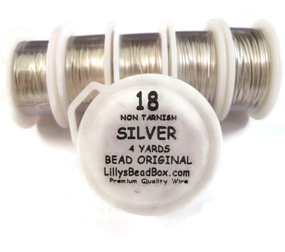 Silver Plated Wire - 18 Gauge Round Wire for Making Jewlery, Non Tarnish Wire, Wire Wrapping Supplies