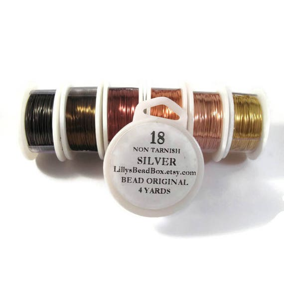 18 Gauge Round Wire for Making Jewelry, Non Tarnish Wire, Wire Wrapping Supplies, Pick your color!, Plated Wire for Jewelry Making