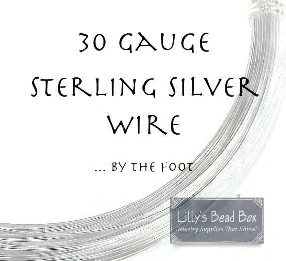 30 Gauge Wire, .925 Sterling Silver Wire, Ten Feet Round, Half Hard Wire for Wire Wrapping Jewelry, Delicate W