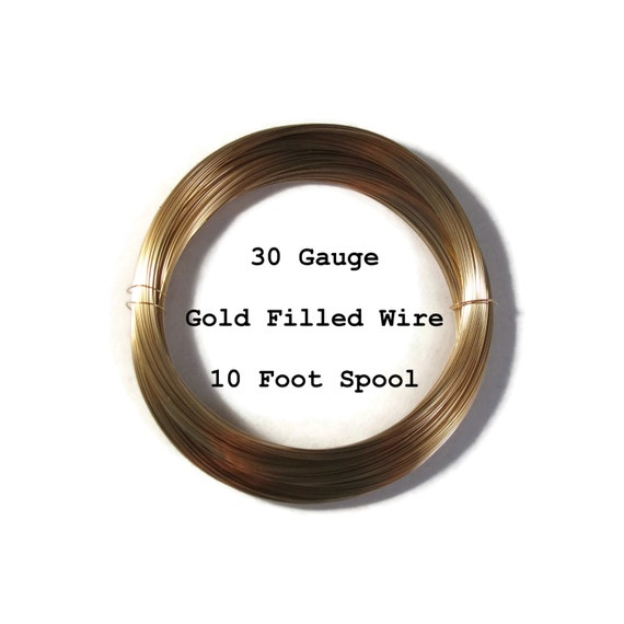 30 Gauge Wire, Ten Feet of 14/20 Gold Filled Wire, Thin Wire, Round, Half Hard Wire for Wrapping Jewelry, Delicate Wire