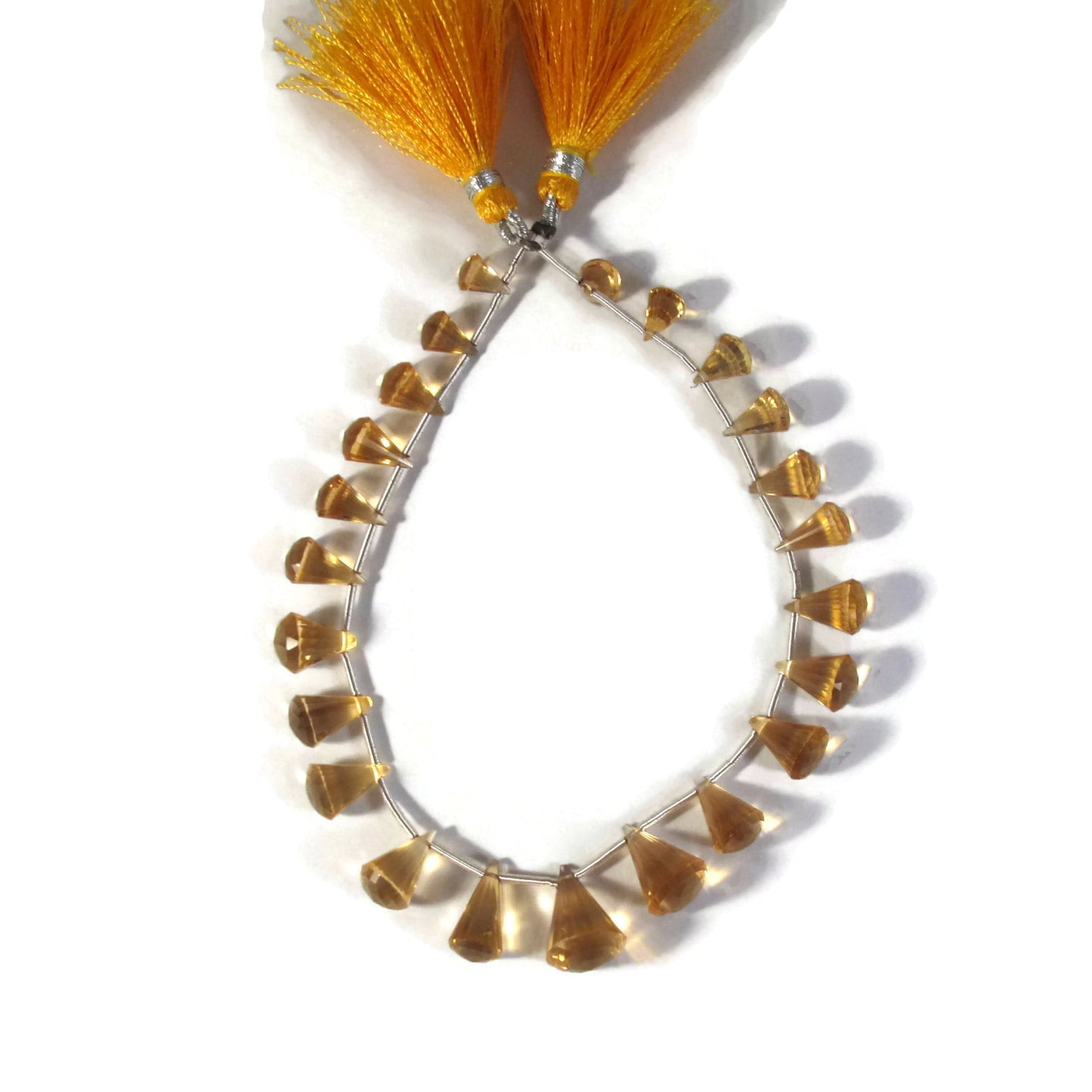 23 Gorgeous Citrine Beads One Strand Of Chandelier Cut