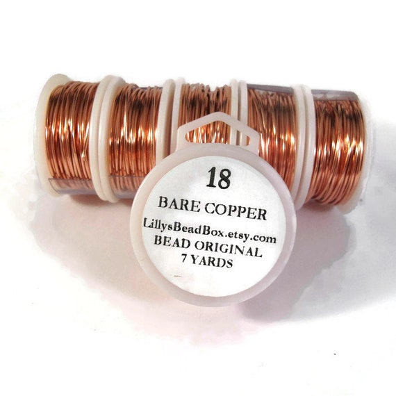 18 Gauge Bare Copper Wire, Genuine Copper, Round Wire for Making Jewelry, Non Tarnish Wire, Wire Wrapping Supplies