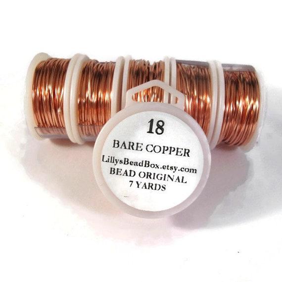 18 Gauge Bare Copper Wire, Genuine Copper, Round Wire for Making Jewelry, Non Tarnish Wire, Wire Wrapping Supplies