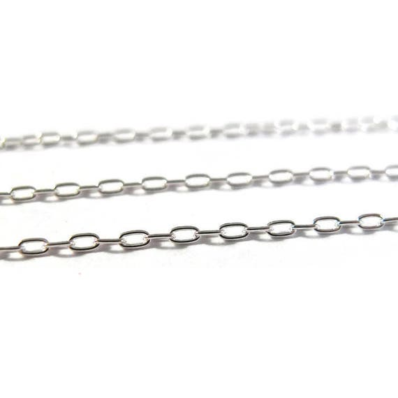 10 Feet of Silver Filled Petite Oval Cable Chain, Ten Feet of Thin Sterling Silver Filled Chain for Making Jewelry (FSsf13440f)