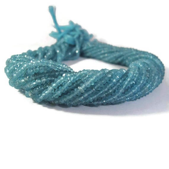 Juicy Apatite Beads, Faceted Rondelles, 3mm - 3.5mm, 13 Inch Strand, Over 130 Stones for Making Jewelry (R-Ap1)