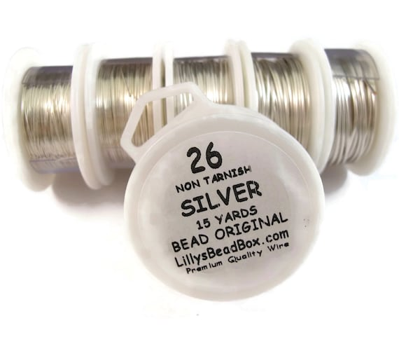 Silver Plated Wire - 26 Gauge Wire for Making Jewlery, Non Tarnish Wire, Wire Wrapping Supplies, Thin Silver Wire