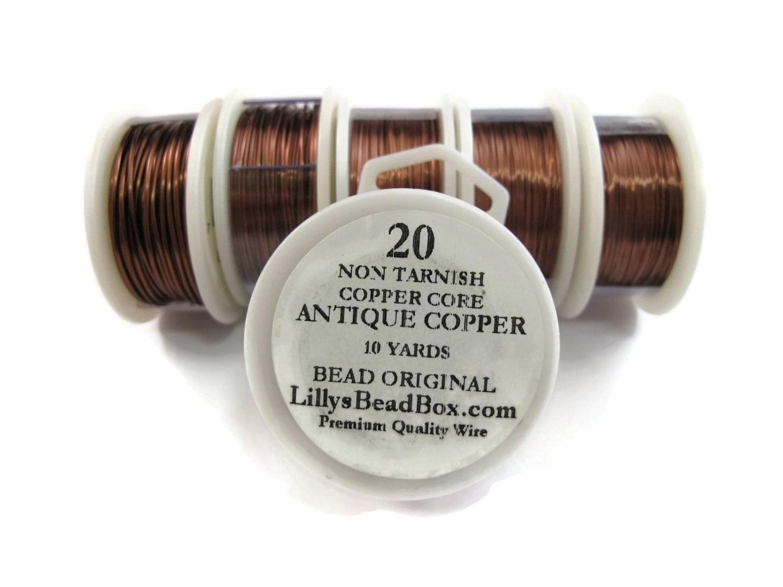 Antique Copper Wire - 20 Gauge Round Wire for Making Jewlery, Non ...