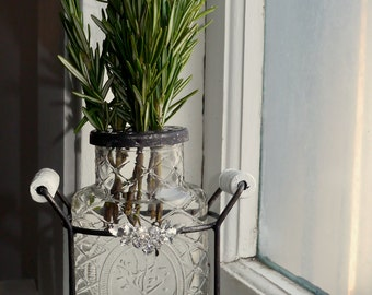 Herb Display Vase- Chic Table Top Center piece - Spring ! Les Trés Chic Collection - Shabby  French Inspired - Oh La la!!