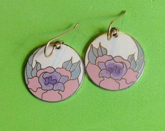 Laurel Burch Earrings Garden Rose