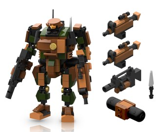 Mecha Frame MF05-A01,MF05-G01,5013 5014 robot building bricks Bundle 4 models