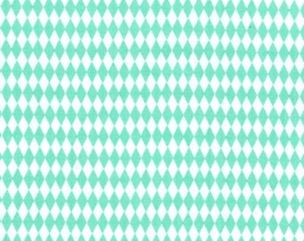 Mini Harlequin in Mint by Michael Miller, yard