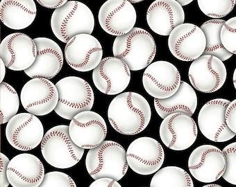 Go Team Go, Baseball, softball cotton fabric from David Textiles , yard
