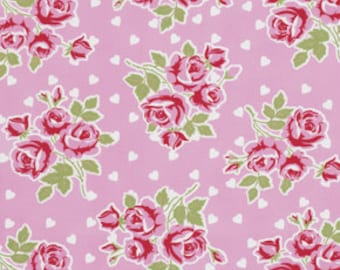 Tanya Whelan, VALENTINE Rose Collection, Falling Roses and Hearts in Pink, yard