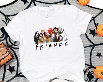 Friends Halloween shirt,Halloween Party, Halloween T-shirt,Hocus Pocus Shirt,Halloween Dinosaur Shirt,Scary Friends Unisex T-shirt, Hoodie