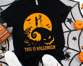 This Is Halloween, The Nightmare Before Christmas Shirt, Jack Skellington, Jack & Sally, King of Halloween Unisex T-shirt for Men and Women