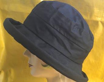 f3b3322d7c0 Waterproof Waxed Cotton Oilskin Hat - Black
