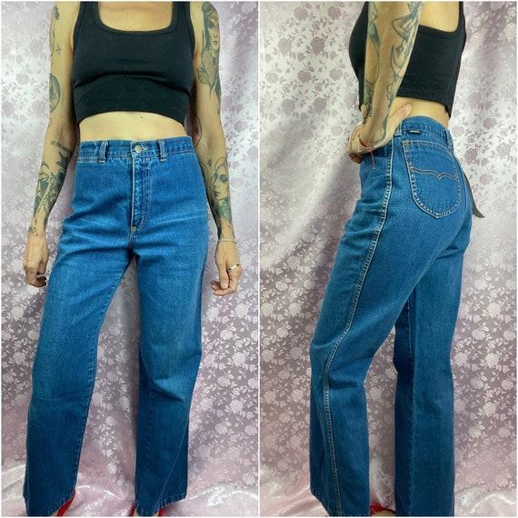 Vintage 70s 80s jeans,blue cotton soft worn in den