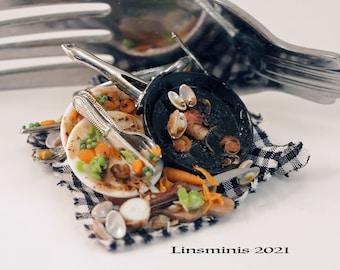 12th Scale Handmade Dollhouse Miniature *The Remains of a Shellfish Feast*