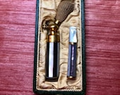 Antique Victorian Mother of Pearl Atomizer and Cigarette Holder in Original Box,Victorian Atomiser,Victorian Cigarette Holder