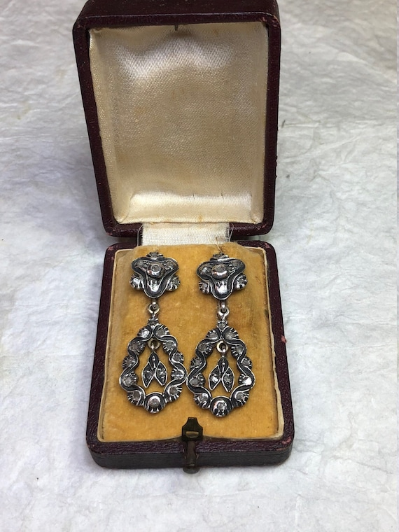 Antique GEORGIAN Sterling Silver and Gold Diamond