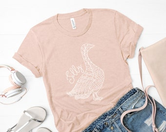 c6a849d56 Silly Goose T Shirt | Womens Peach T Shirt Funny Tee Gift for Her Silly  Goose Art Funny Goose Silly Animal Tee