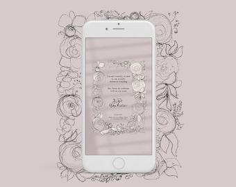 Digital Wedding Invitation Design, E-invite, Semi-Custom Wedding Invitations Arabic or English