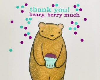 Thank you beary, berry much card