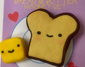 You & Me like bread and butter magnet set