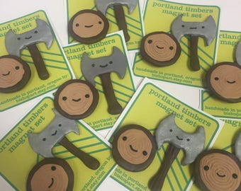 Portland Timbers magnet set