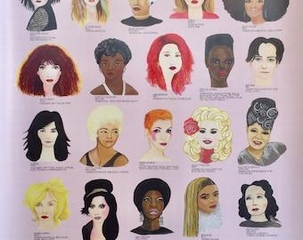 les chantueses female singers poster