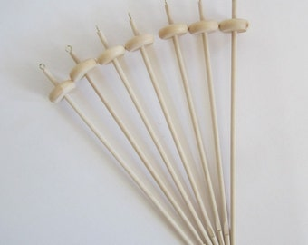 Natural Wooden Light Weight Drop Spindle - Bottom or Top whorl