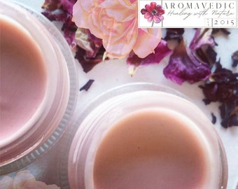 Rose Hibiscus Cream Luxurious Hydrating Face Balm with Juicy Fruits and Ayurvedic Herbs