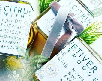 Natural Botanical Perfume Citrus Vetiver Eau de Cologne for Men with Agarwood Spices