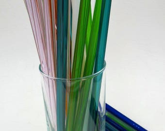 Eco Friendly Glass Straws Kit  Four Straws Cleaning Brush and Travel Tube